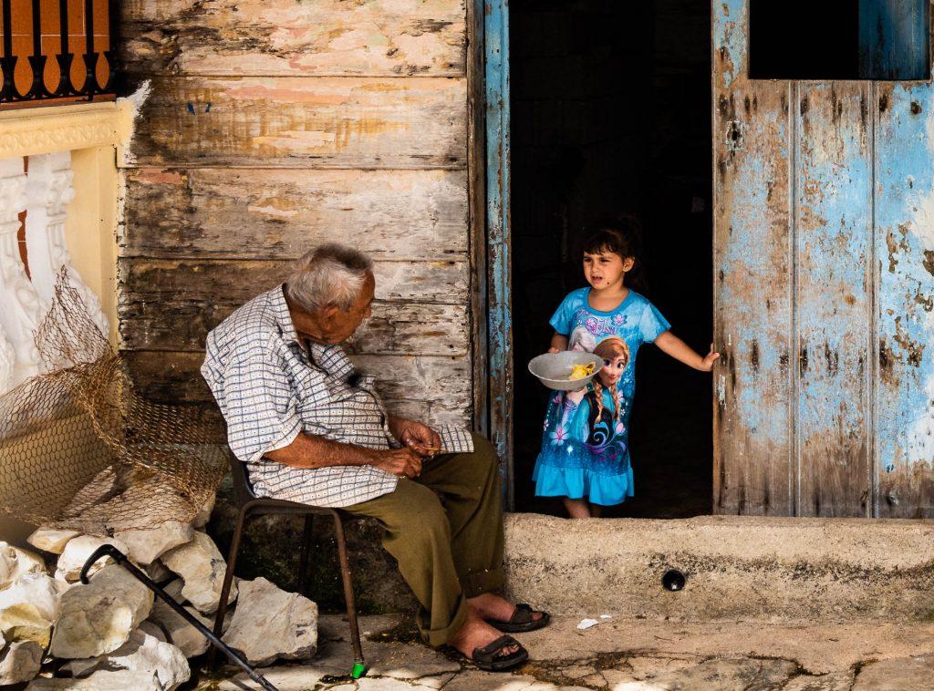 Cuba Grandfather Girl
